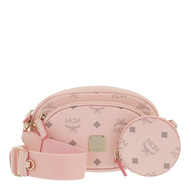 bags, MCM, Essential Visetos Multifunction Crossbody Pouch Pink