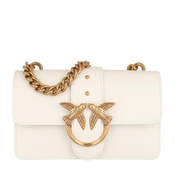 Handtasche, Pinko, Love Mini Icon Simply 4 C Crossbody White