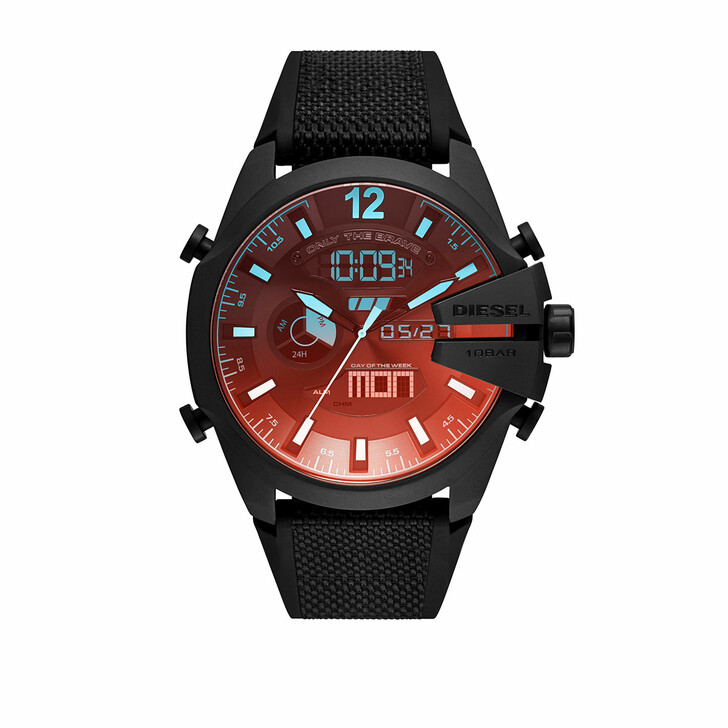 Uhr, Diesel, Mega Chief Analog-Digital Watch Black