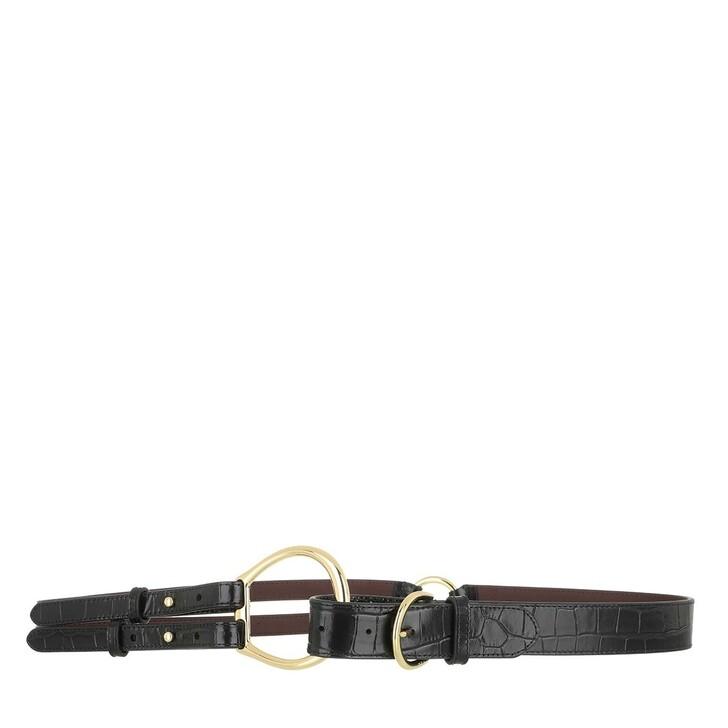 belts, Lauren Ralph Lauren, Tri Strap Casual Medium Black