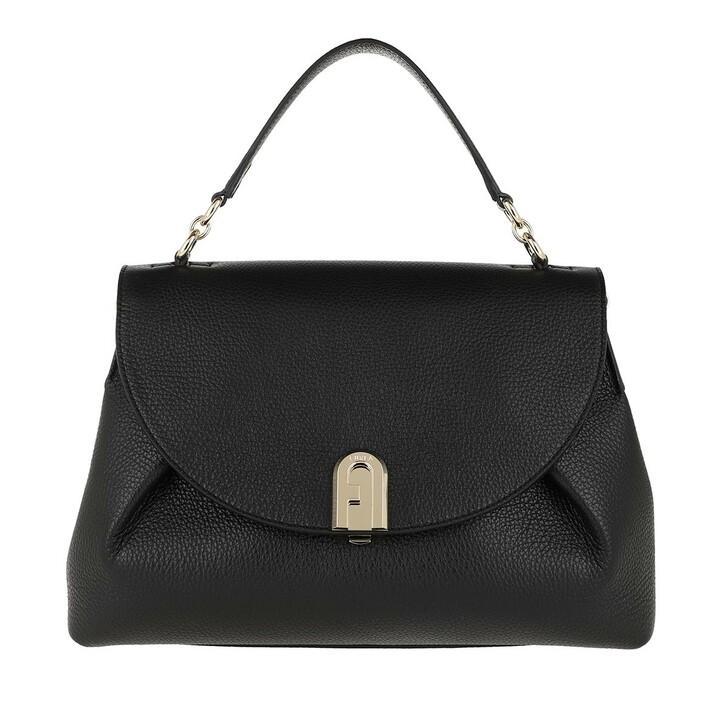 bags, Furla, Sleek Medium Handle Bag Black
