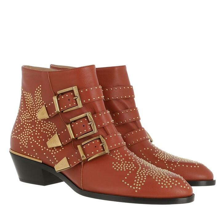 Schuh, Chloé, Susanna Nappa Boots Crimson Orange