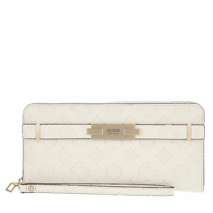 wallets, Guess, Bea Slg Large Zip Around Stone