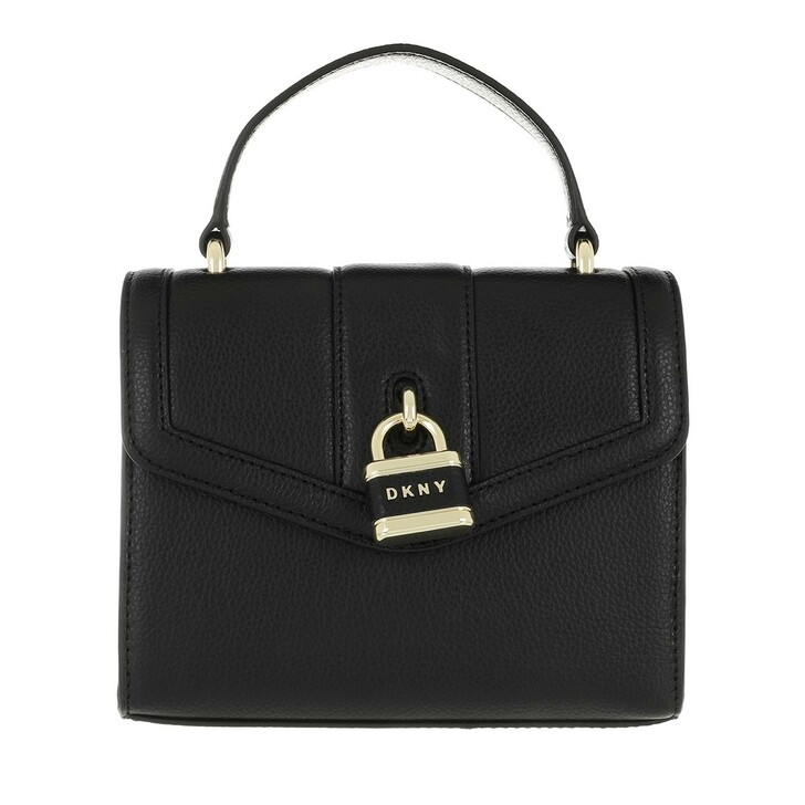 Handtasche, DKNY, Ella Small Crossbody Black Gold