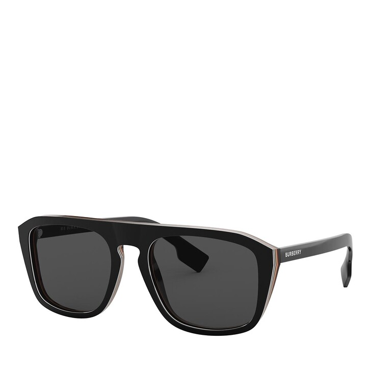 Sonnenbrille, Burberry, 0BE4286 CHECK MULTILAYER BLACK