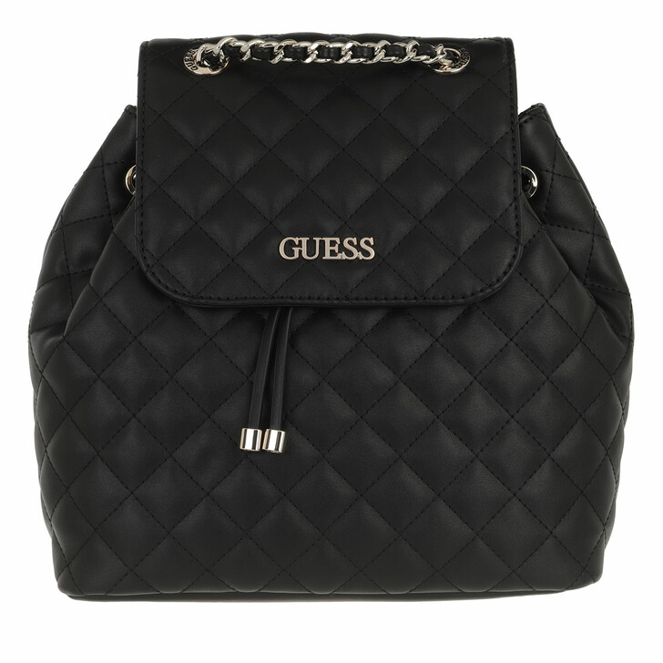 bags, Guess, Illy Backpack Black