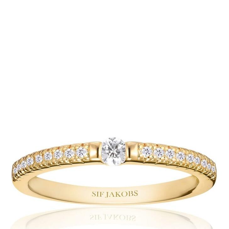 rings, Sif Jakobs Jewellery, Ellera Uno Ring 18 Carat Yellow Gold