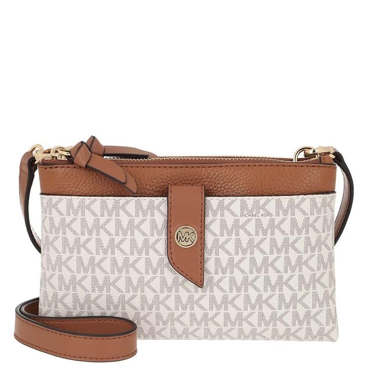 bags, MICHAEL Michael Kors, Medium Tab Dzp Phn  Vanilla/Acorn