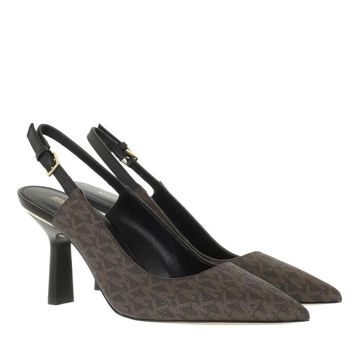 shoes, MICHAEL Michael Kors, Cleo Sling Brown/Black