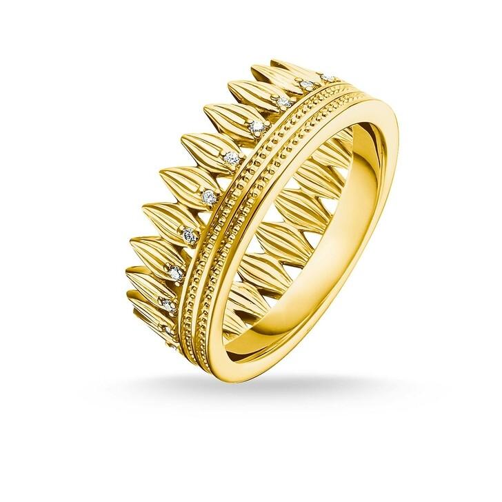 Ring, Thomas Sabo, Ring Crown Leaves Gold