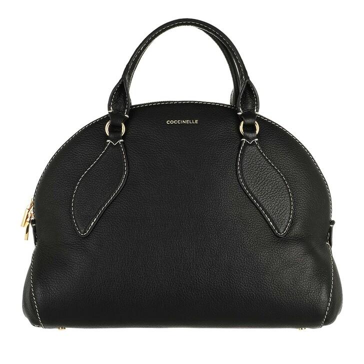 bags, Coccinelle, Colette Handbag Grained Leather Noir
