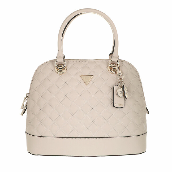 bags, Guess, Cessily Dome Satchel Stone