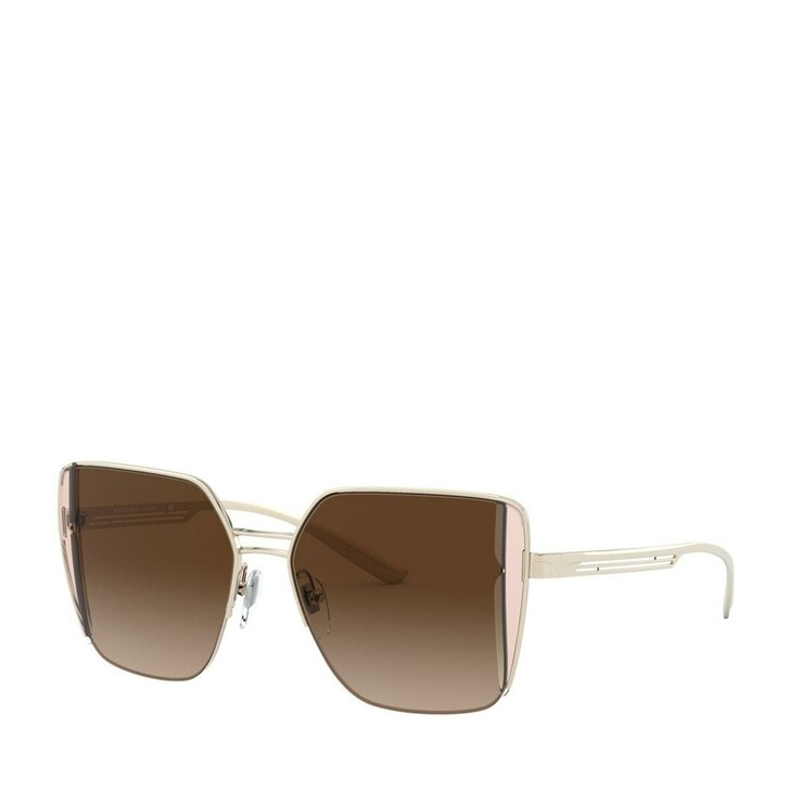 Sonnenbrille, BVLGARI, Women Sunglasses Condotti 0BV6141 Pale Gold