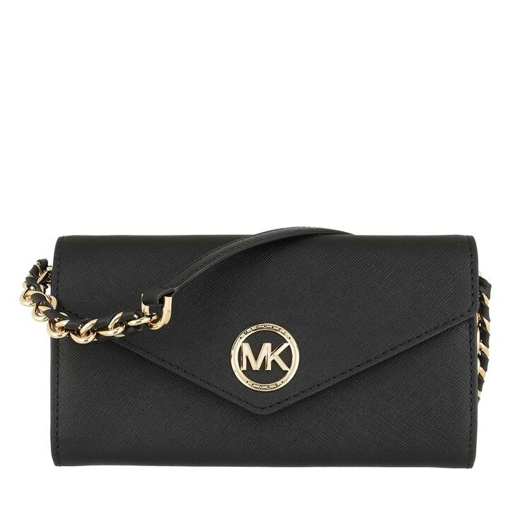 Geldbörse, MICHAEL Michael Kors, Large Wallet On Chn  Handbag  Leather Black
