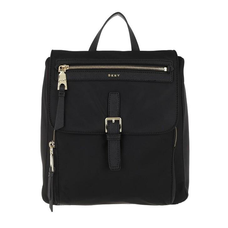 Reisetasche, DKNY, Cora Backpack Black Gold