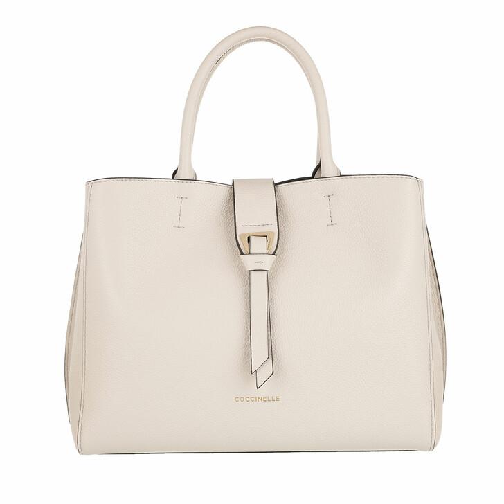 Handtasche, Coccinelle, Alba Tote Bag Lambskin White