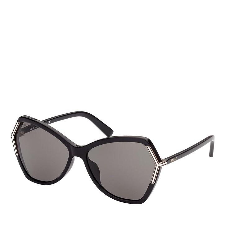Sonnenbrille, Bally, BY0036-H Shiny Black /Smoke