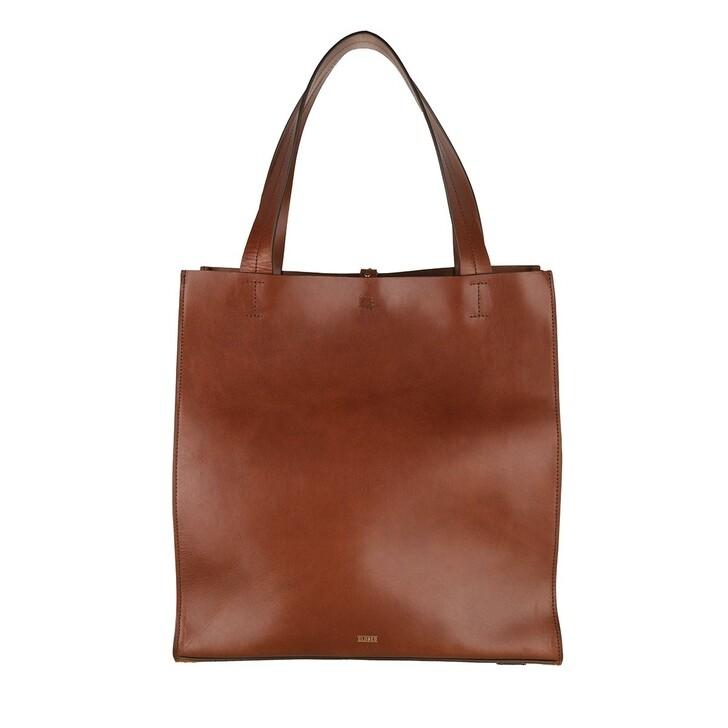 Handtasche, Closed, Shopper Suede Dark Amber