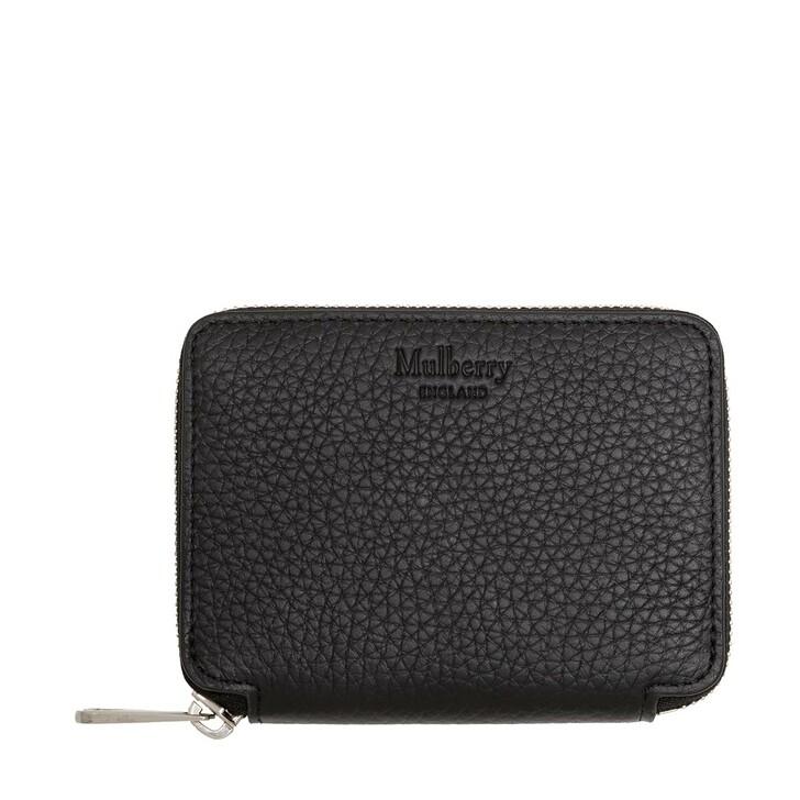 Geldbörse, Mulberry, Zip Around Wallet Leather Black