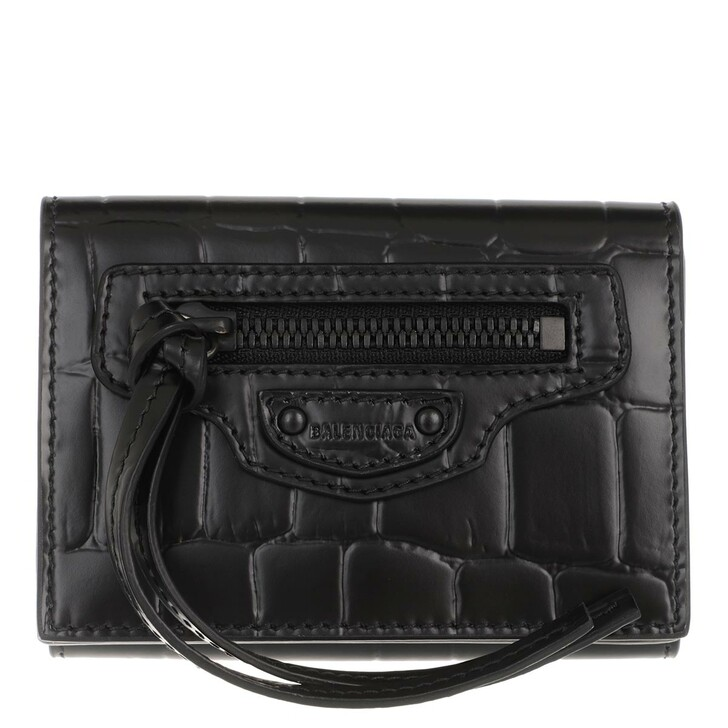 Geldbörse, Balenciaga, Neo Classic Wallet Leather Black