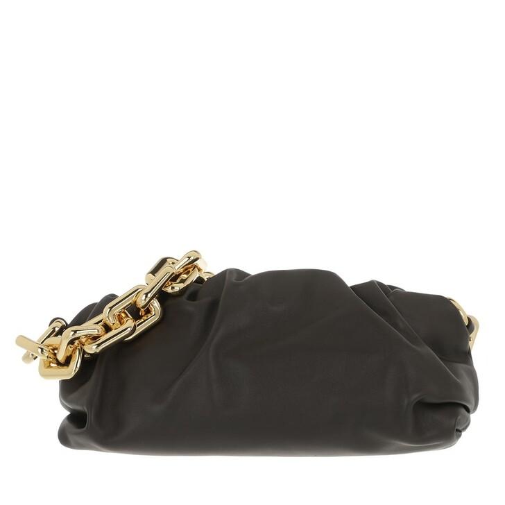 bags, Bottega Veneta, The Chain Medium Pouch Leather Fondente/Gold
