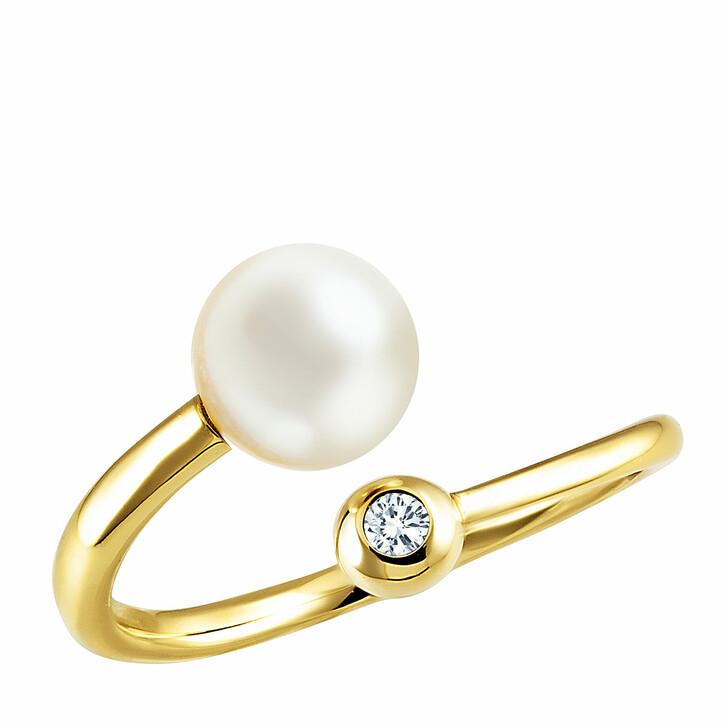 rings, BELORO, Ring 585 Diamond  0,03 ct. H-Si Akoya Yellow Gold