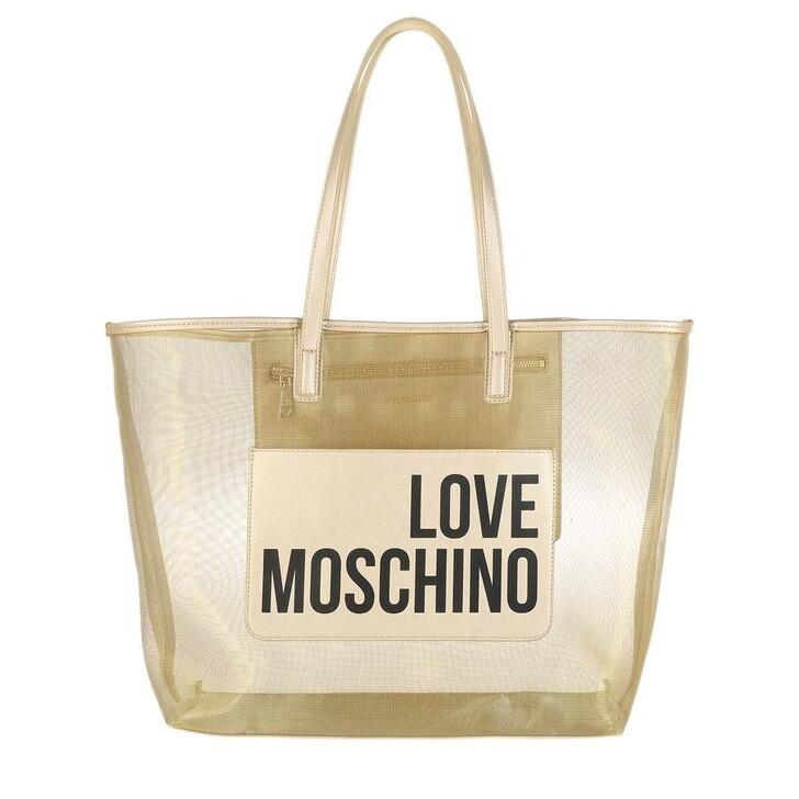 bags, Love Moschino, Borsa Fabric Pu  Platino