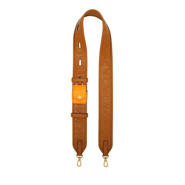 Bag Straps, MCM, Col New Mini Leather Strap W/Airpod Cognac