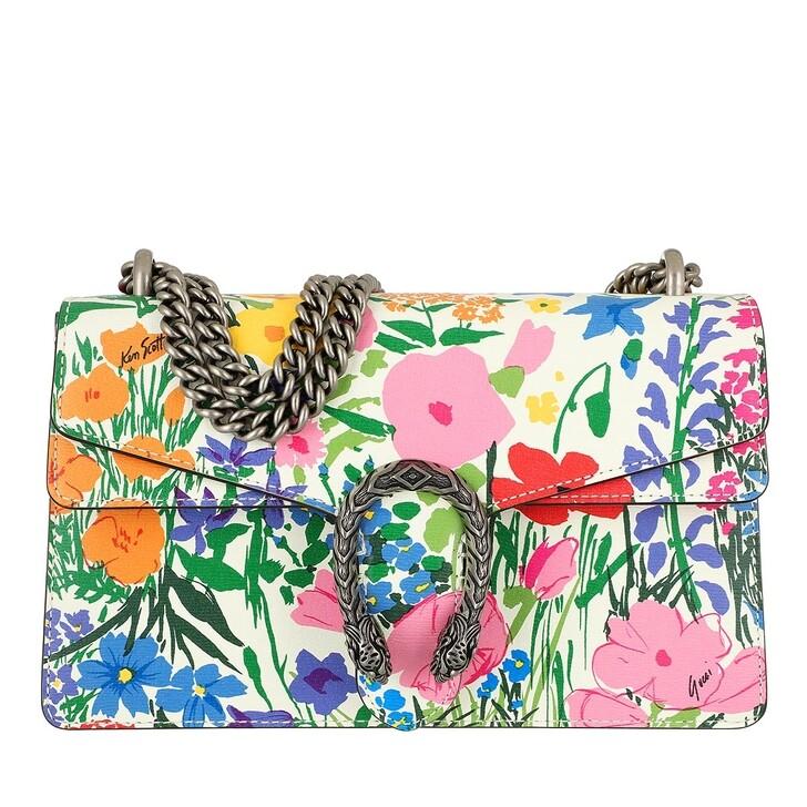 Handtasche, Gucci, Dionysus Small Shoulder Bag Leather Ivory Pink