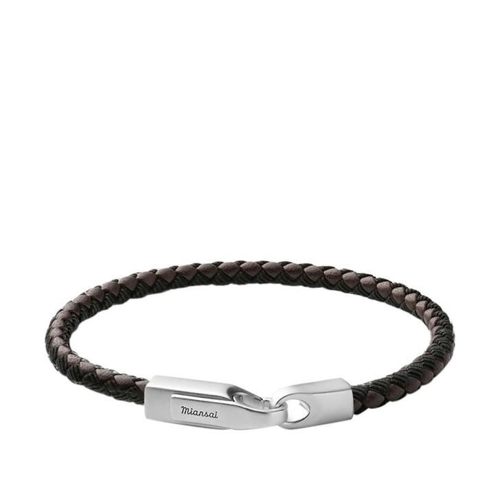 Armreif, Miansai, Men Crew Leather Ribbon Bracelet Black/Brown