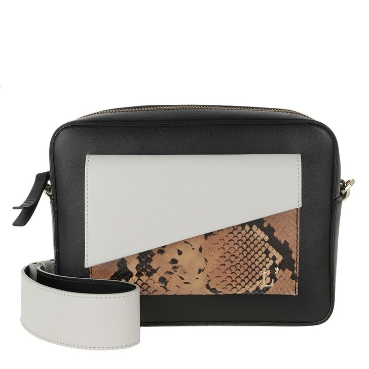 Handtasche, L´Autre Chose, Two Coloured Camera Bag Black/Off White