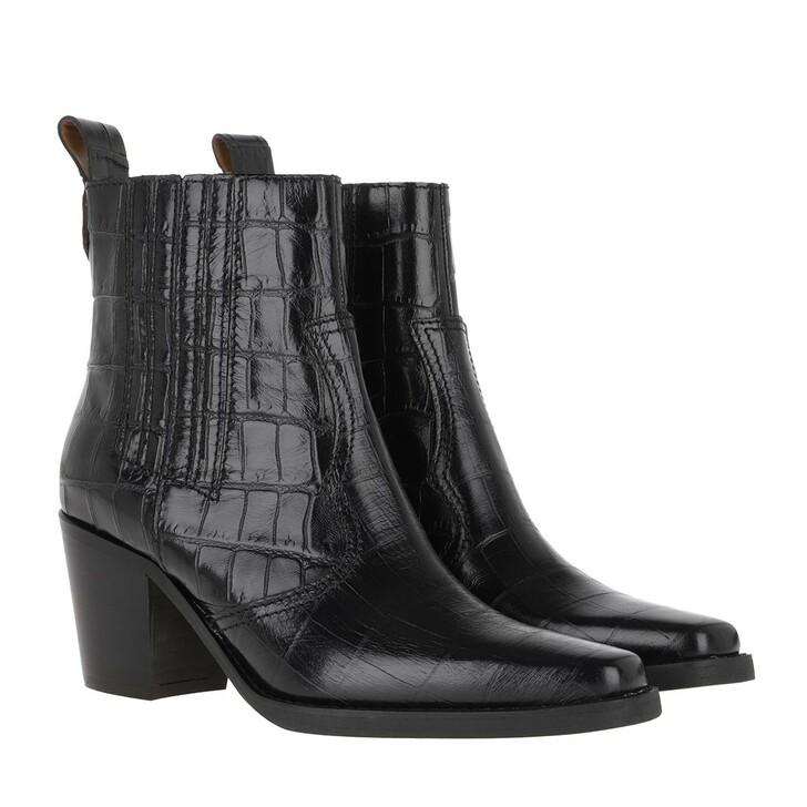 Schuh, GANNI, Ankle Boots Black
