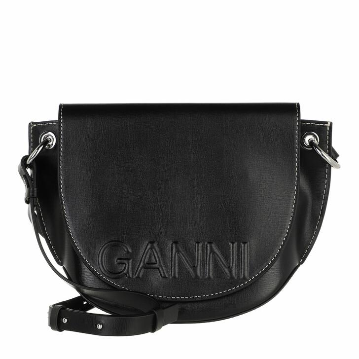 bags, GANNI, Saddle Bag Black