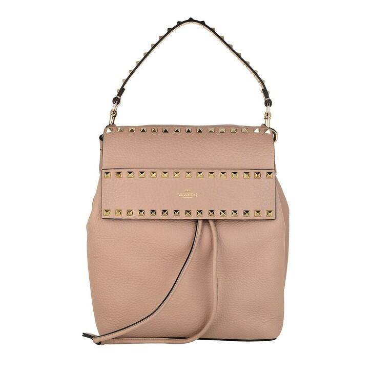 bags, Valentino Garavani, Rockstud Backpack Calf Poudre