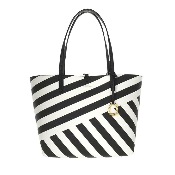 bags, Lauren Ralph Lauren, Reversible Tote Medium Capri Stripe Mix/Mediter Dot