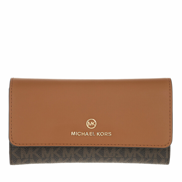 wallets, MICHAEL Michael Kors, Large Trifold Wallet Brown/Acorn