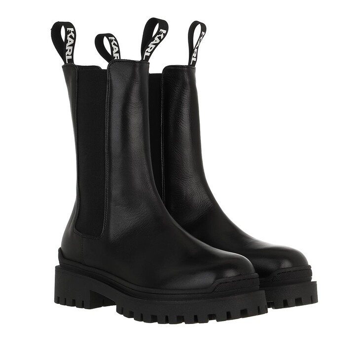 shoes, Karl Lagerfeld, BIKER II Long Gore Boot Black Leather
