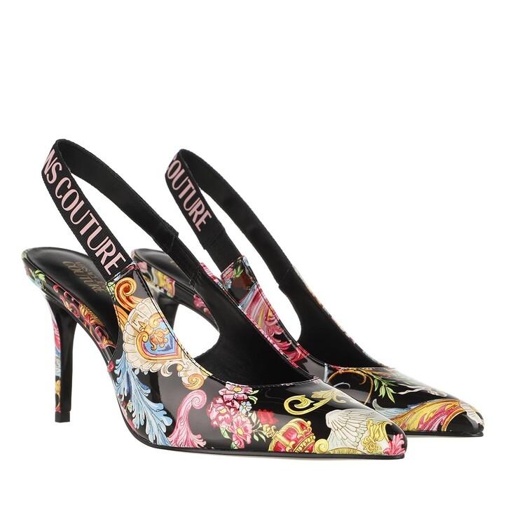Schuh, Versace Jeans Couture, Linea Fondo Chloe Slingback Pumps Black Multicolour