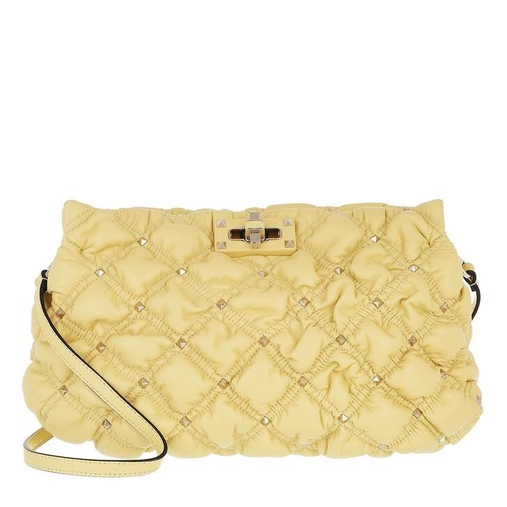 bags, Valentino Garavani, Spike Me Clutch Nappa Leather Water Yellow