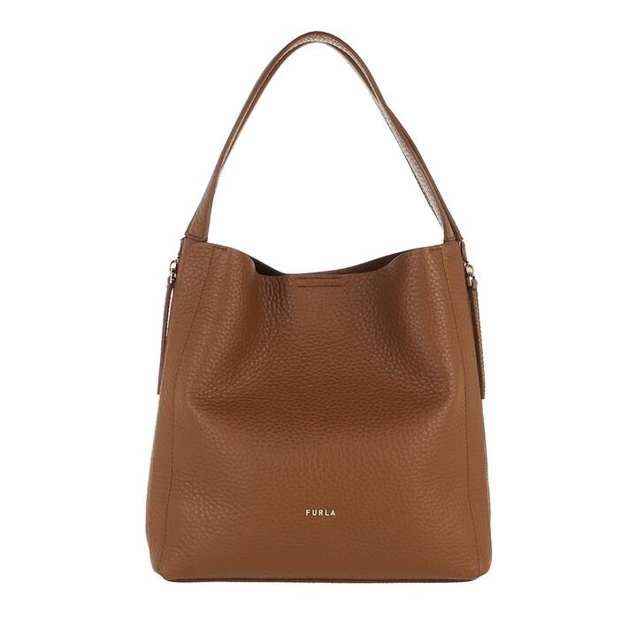 Handtasche, Furla, Grace Medium Hobo Bag Cognac Ballerina