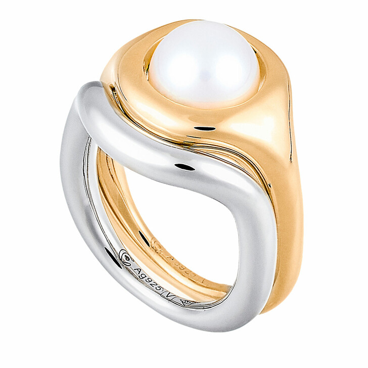 Ring, Charlotte Chesnais, Bague Eclipse Perle Ring Yellow Gold