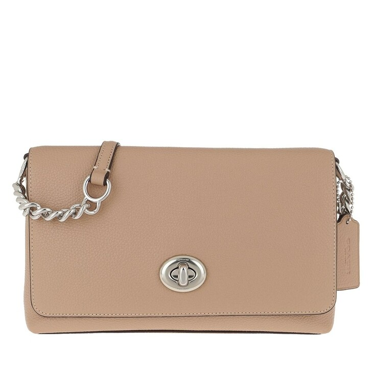 Handtasche, Coach, Crosstown Crossbody Bag Polished Pebble Lh/Taupe