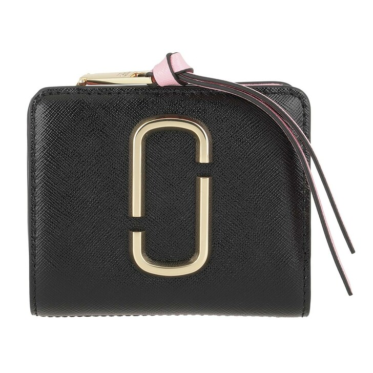 wallets, Marc Jacobs, The Snapshot Mini Compact Leather Wallet New Black Multi