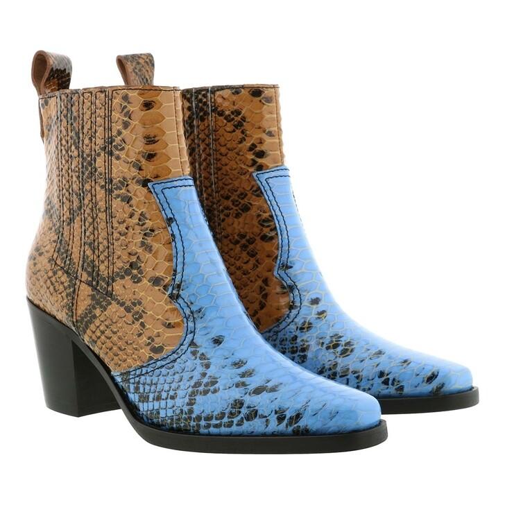 Schuh, GANNI, Ankle Boots Brunnera Blue