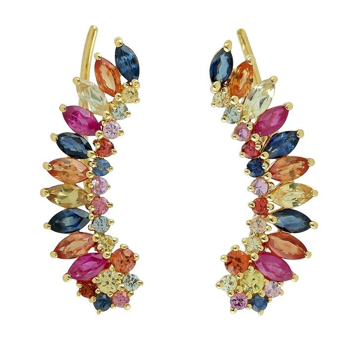 earrings, Evél Juwel, RAINBOW SHADOW Gelbgold
