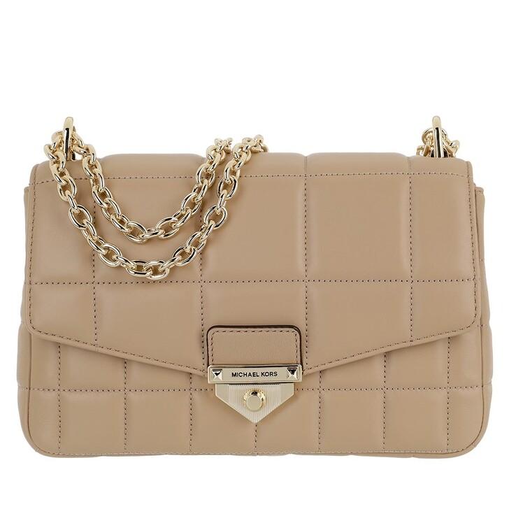 bags, MICHAEL Michael Kors, Soho Large Shoulder Bag Leather Camel