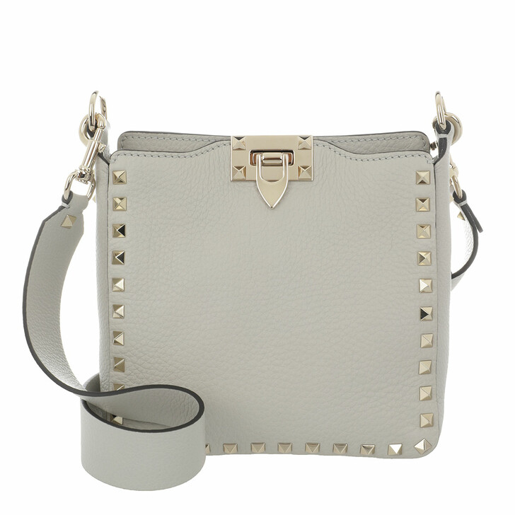 Handtasche, Valentino Garavani, Crossbody Bag Leather Opal Grey