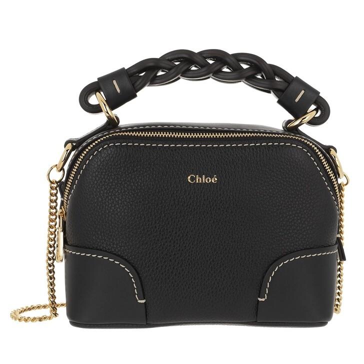 bags, Chloé, Mini Daria Chain Crossbody Bag Leather Full Blue