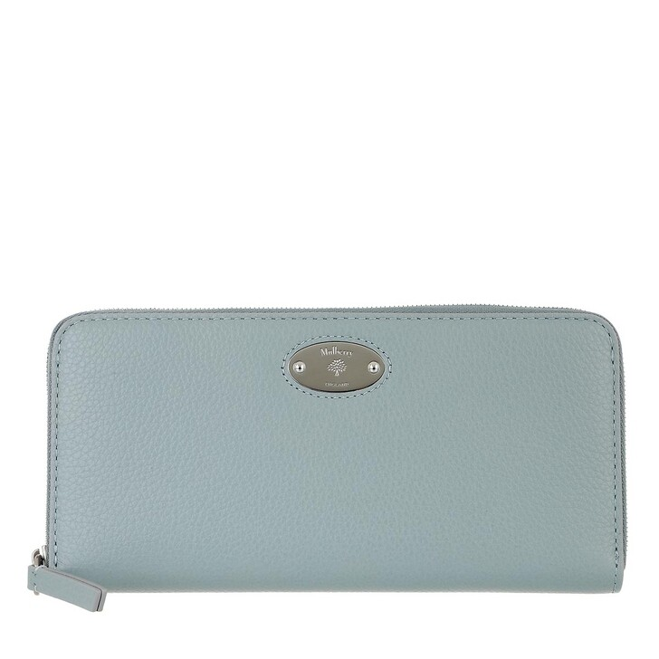 wallets, Mulberry, Plaque 8 Credit Card Zip Purse Leather Cloud