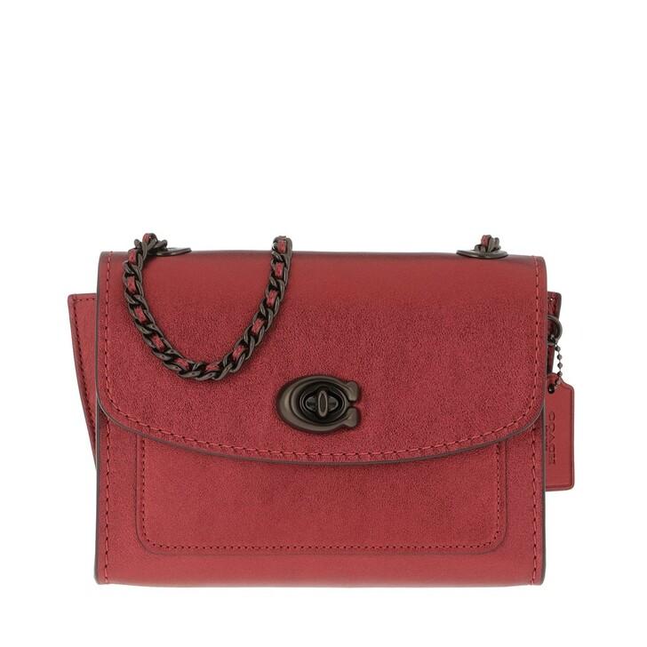 Handtasche, Coach, Metallic Leather Parker 18 Shoulder Bag Metallic Clay